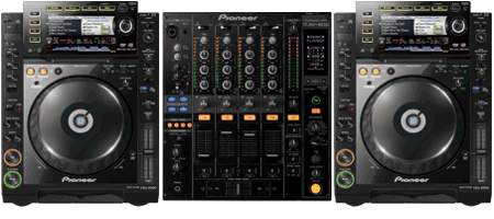 Verhuur DJ Set CDJ2000 DJM800